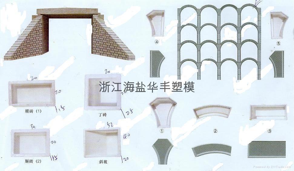 PP料注塑六角护坡塑料模具 4