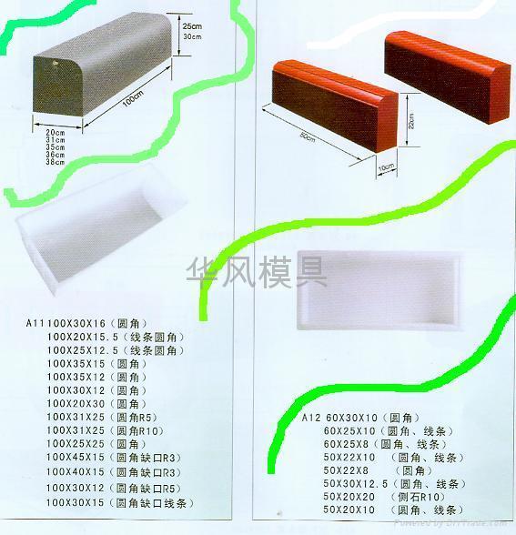 安徽水利水库护坡塑料模具 5