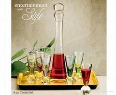 Glass Liqueur Set