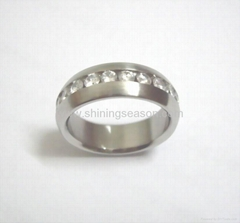 stainless steel ring /Zircon ring