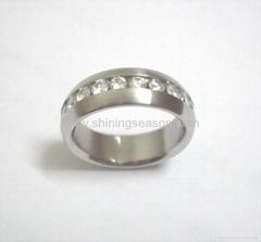 不锈钢戒指/镶锆戒指