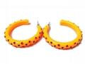 樹脂鑲鑽手鐲&樹脂鑲鑽耳環套裝