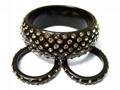 Rhinestone Resin Bangle&Resin Earrings