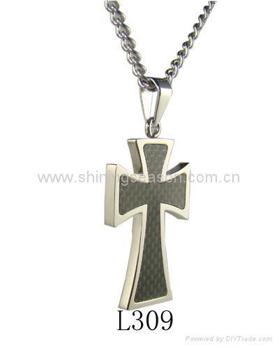 不鏽鋼十字弔墜/項鏈