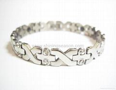 Magnetic S.steel bracelets with Zirconia