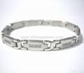 Magnetic S.steel bracelets with Zirconia 3
