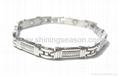 Magnetic S.steel bracelets with Zirconia 4
