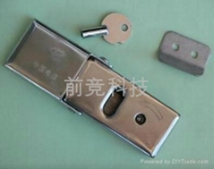 不鏽鋼三角鎖芯交接箱鎖搭扣鎖