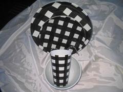 4pcs round plate set