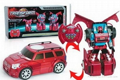 rc multifunctional transformation robot car