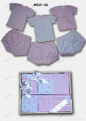 Babies' garments in gift-box
