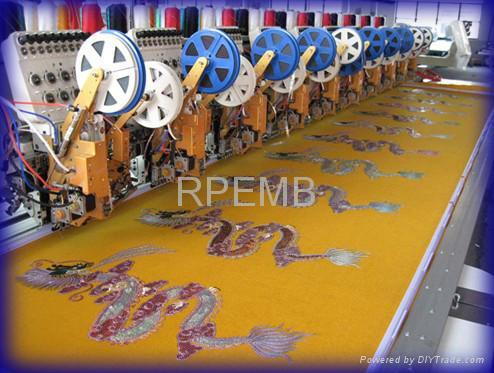Multi Sequin Embroidery Machine 2