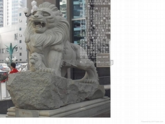 嘉祥石狮子石雕汇丰港狮