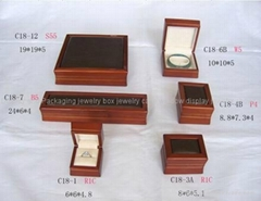 Wooden Jewelry Boxes Necklace Ring Bracelet Earring Set Jewelry Packaging Boxes