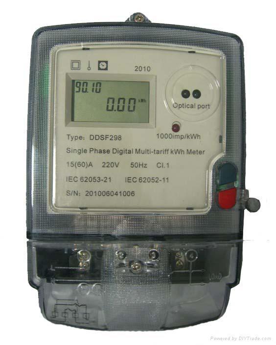Digital Electric Power Meters : Single phase digital multi tariff kwh meter ddsf