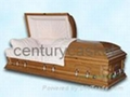 caskets,soild wood casket