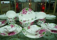 骨质瓷28头方形餐具-贵妃