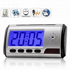 Digital Spy Camera Clock with Remote Control and Motion Detection