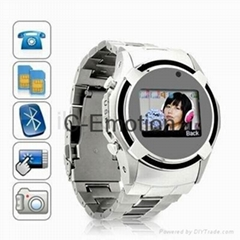 S760 Quad Band Dual Cards Bluetooth Camera Touch Screen Cool Watch China Phone -