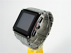Stainless steel water  proof watch mobile phone W818