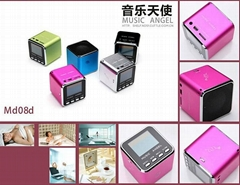 Original MUSIC ANGEL MD-08 Portable mini Speakers+FM+Card reader+Screen+TF card (Hot Product - 2*)