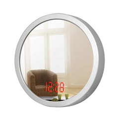 Sensor Mirror LED Wall Clock