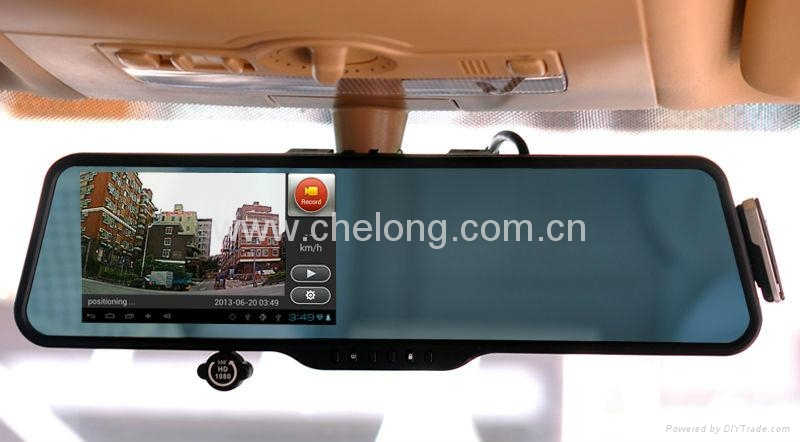 Android rearview mirror DVR with GPS Bluetooth Wifi  3