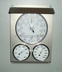 Outdoor 3in1 weather station with SS panel