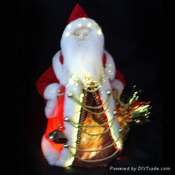 12 Inch Fiber Optic Santa Claus Suitable For Christmas