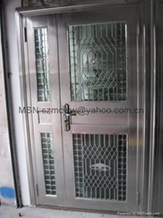 Stainless steel burglar-proof door