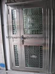 Stainless steel burglar-proof door