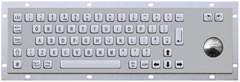 Stainless steel keyboard with trackball