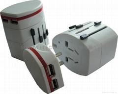全球通多功能旅行转换插座,USB多功能手机充电器,转换插头,旅行插头