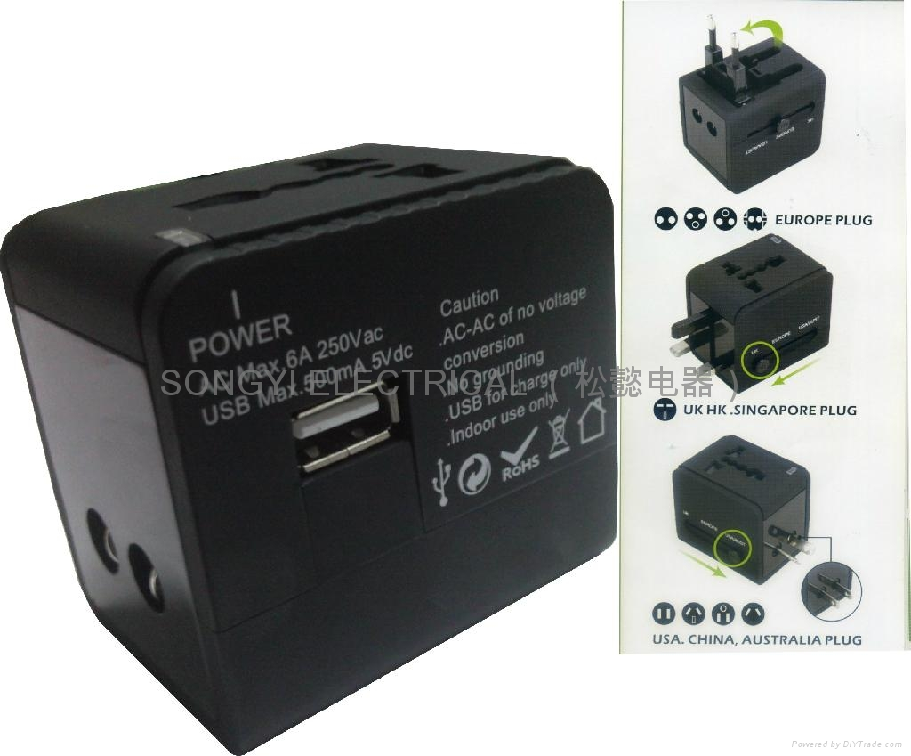 universal adapter with usb
