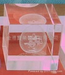 内雕水晶寿桃