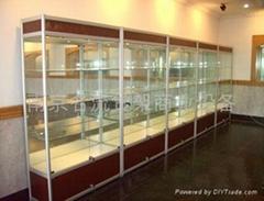 南京钛合金玻璃精品柜