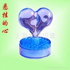个性卡通印章壳-悬挂的心