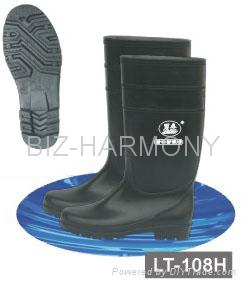 PVC Ordinary Working Boots (Green) 4
