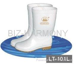 PVC Ordinary Working Boots (Green) 5