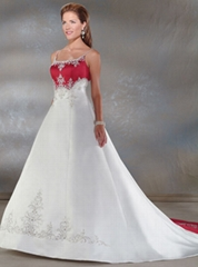Cheap custom made satin wedding dresses