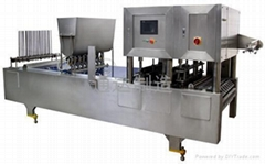 PNEUMATIC CUP-FILLING & SEALING MACHINE
