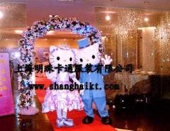 卡通服裝/卡通人偶/人偶服裝/婚禮版KT貓