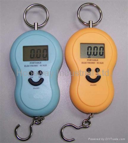 Digital Hanging Fishing Luggage Hook Pocket Scale 1