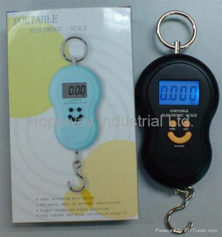 Digital Hanging Fishing Luggage Hook Pocket Scale 2
