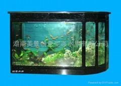 供应创意明典CY-BT吧台式免换水生态水族箱 生态鱼缸