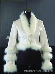 lady's fashion fur coat-2