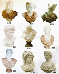 MARBLE CARVING--STONE BUST