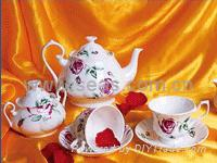 Sell 11 pcs of Yuxiang coffee set(under glaze)
