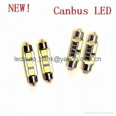 NEW Festoon T10x36mm-3SMD Canbus LED