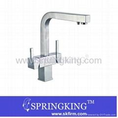 Kitchen Tri-Flow Brass Faucet Sink Tap